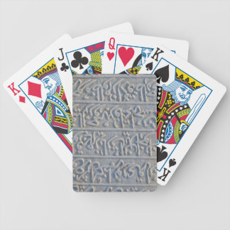 Turkish stone carved arabic text history archaeolo bicycle playing cards