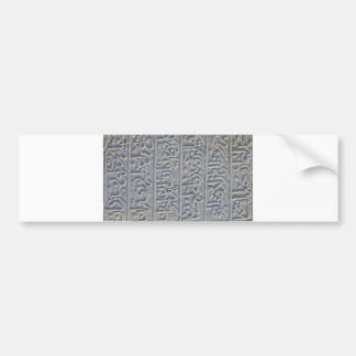 Turkish stone carved arabic text history archaeolo bumper sticker