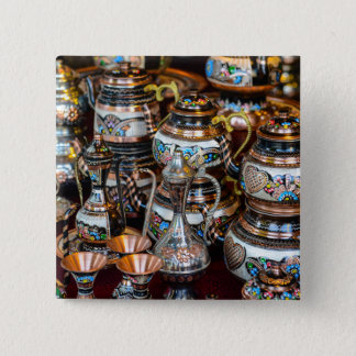 Turkish Teapots for Sale in Istanbul Turkey 2 Inch Square Button