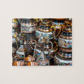 Turkish Teapots for Sale in Istanbul Turkey Jigsaw Puzzle