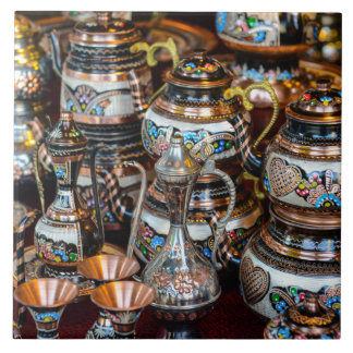 Turkish Teapots for Sale in Istanbul Turkey Tile