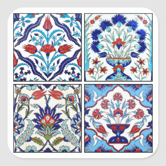 Turkish tiles collection square sticker
