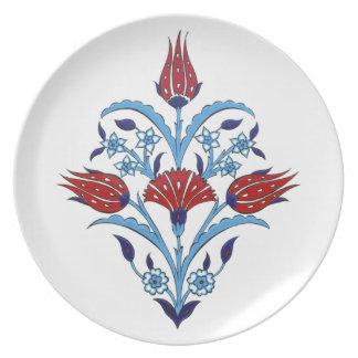 Turkish tulips plate