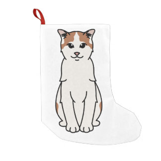 Turkish Van Cat Cartoon Small Christmas Stocking