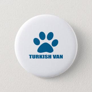 TURKISH VAN CAT DESIGNS 2 INCH ROUND BUTTON