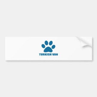 TURKISH VAN CAT DESIGNS BUMPER STICKER
