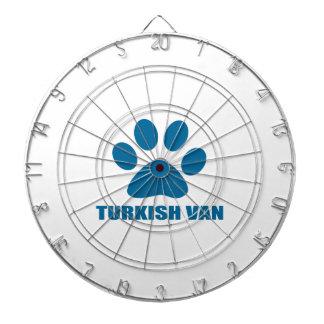 TURKISH VAN CAT DESIGNS DARTBOARD