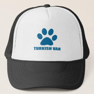 TURKISH VAN CAT DESIGNS TRUCKER HAT