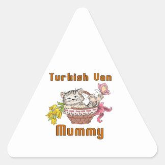 Turkish Van Cat Mom Triangle Sticker