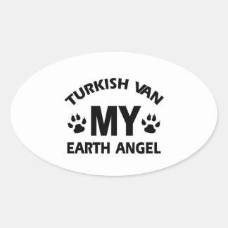 TURKISH VAN cat Oval Sticker