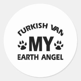 TURKISH VAN cat Round Sticker