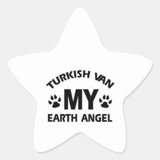 TURKISH VAN cat Star Sticker