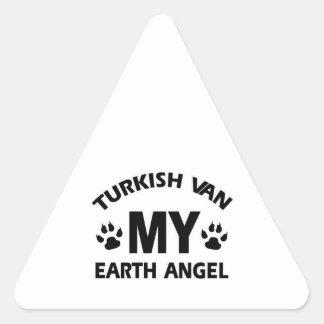TURKISH VAN cat Triangle Sticker