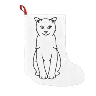 Turkish Vankedisi Cat Cartoon Small Christmas Stocking