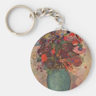 Turkish Vase by Bertrand-Jean Redon Basic Round Button Keychain