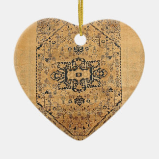 TURKISH VINTAGE DESIGN CERAMIC HEART ORNAMENT