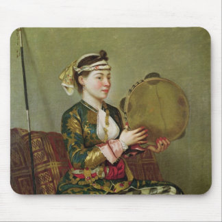 Turkish Woman with a Tambourine Mouse Pad