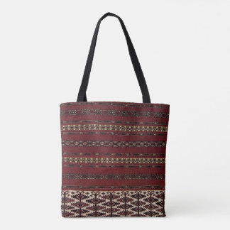 Turkmen Carpet Pattern Tote