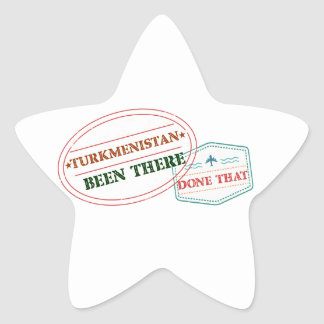 Turkmenistan Been There Done That Star Sticker
