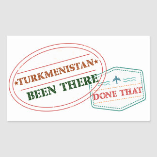 Turkmenistan Been There Done That Sticker