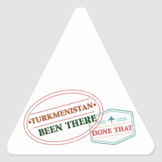 Turkmenistan Been There Done That Triangle Sticker