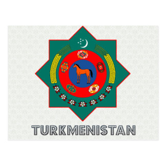 Turkmenistan Coat of Arms Postcard