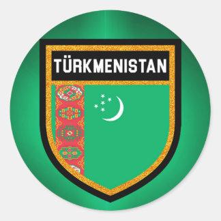 Turkmenistan Flag Classic Round Sticker