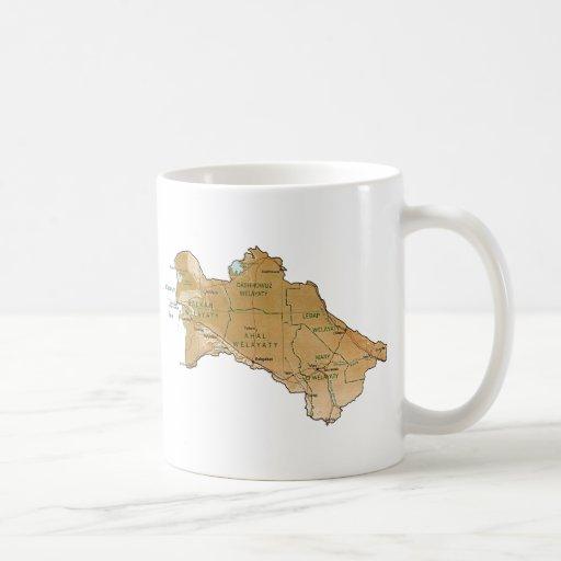Turkmenistan Flag ~ Map Mug