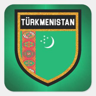 Turkmenistan Flag Square Sticker