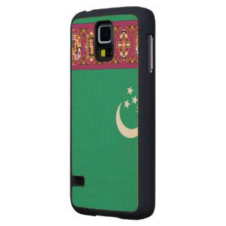 Turkmenistan Flag Carved® Maple Galaxy S5 Case