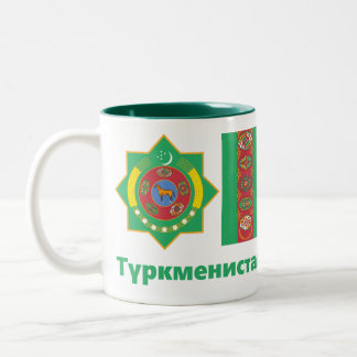 Turkmenistan Mug/cup Two-Tone Coffee Mug