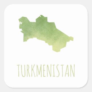 Turkmenistan Square Sticker
