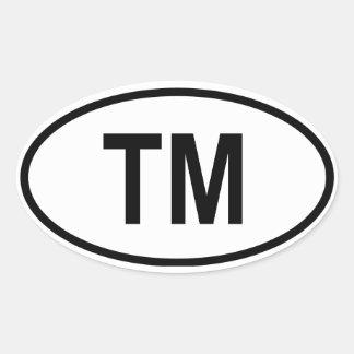 "Turkmenistan ""TM"" Sticker"