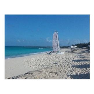 Turks and Caicos Beach Postcard