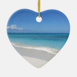 Turks and Caicos Dream Beach Ceramic Ornament