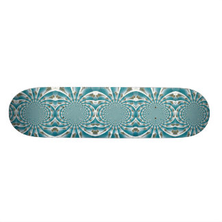 Turks and Caicos from above kaleidoscope board Skateboard Deck