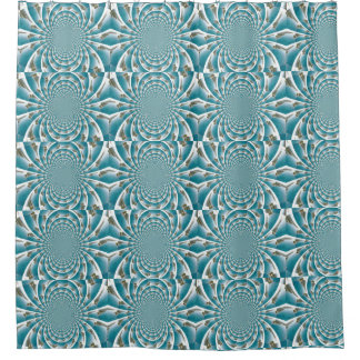Turks and Caicos from above kaleidoscope curtain