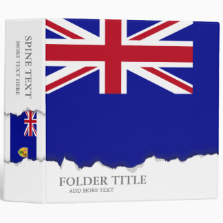 Turks and Caicos Islands Flag Vinyl Binders