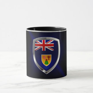 Turks and Caicos Islands Metallic Emblem Mug