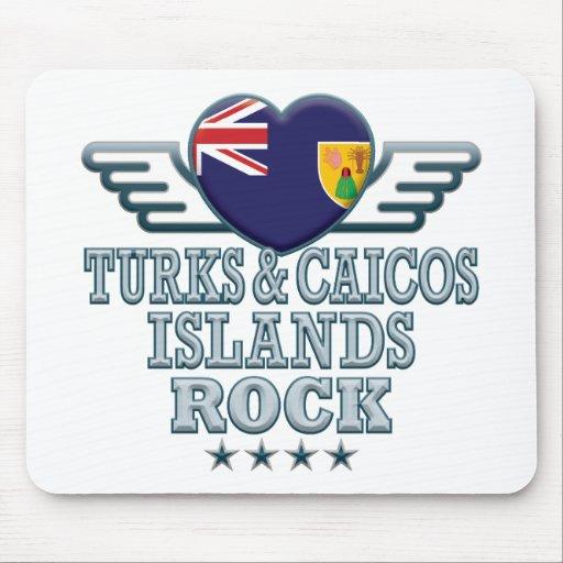Turks and Caicos Islands Rock v2 Mousepad