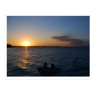Turks and Caicos Sunset Postcard