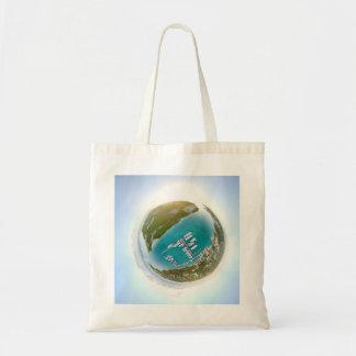 Turks and Caicos tiny planet 360 aerial tote bag
