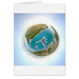 Turks and Caicos tiny planet panorama Card
