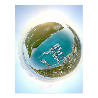 Turks and Caicos tiny planet panorama Postcard