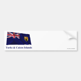 Turks & Caicos Islands Waving Flag with Name Bumper Sticker