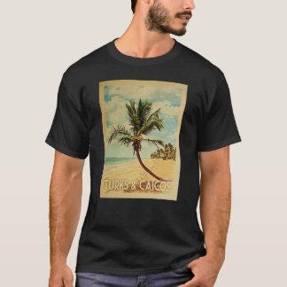 Turks Caicos Vintage Travel T-shirt - Beach