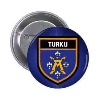 Turku Flag 2 Inch Round Button