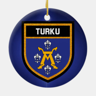 Turku Flag Ceramic Ornament