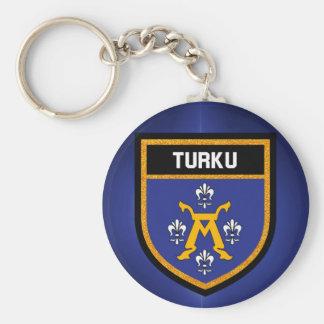 Turku Flag Keychain