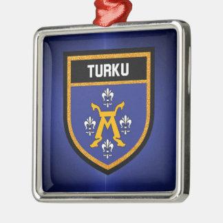 Turku Flag Metal Ornament